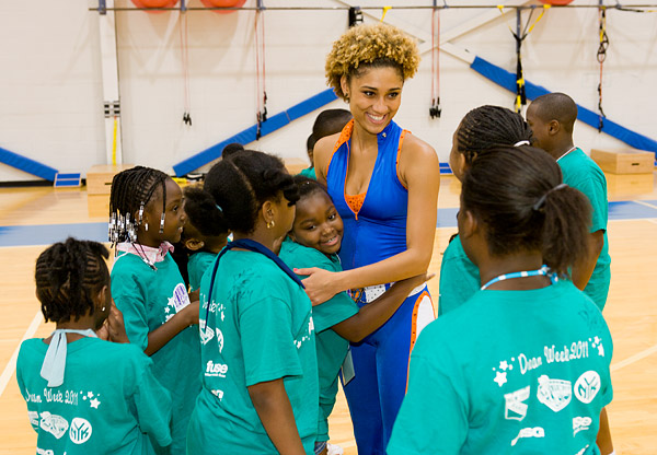 Knicks City Dancer and the Garden of Dreams Foundation