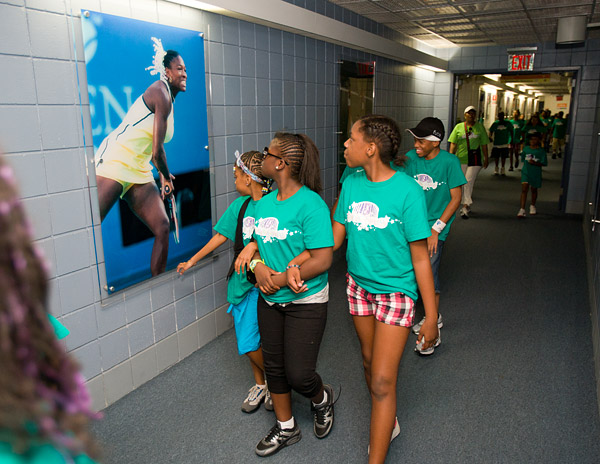On the last day of Dream Week, kids spend the morning touring and learning tennis basics at the USTA Billie Jean King National Tennis Center, home of the U.S. Open.