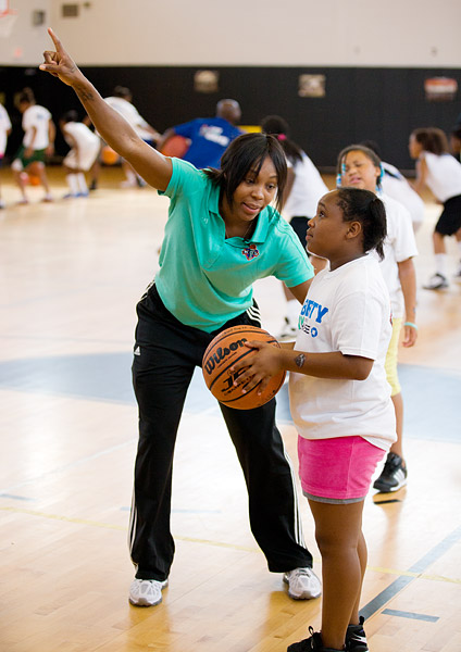 Cappie Pondexter basketball clinic