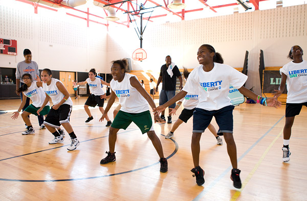 Basketball defensive drill