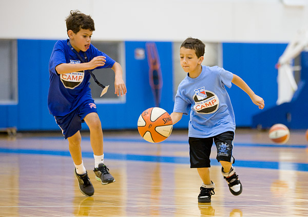 Basketball at New York Rangers hockey camp
