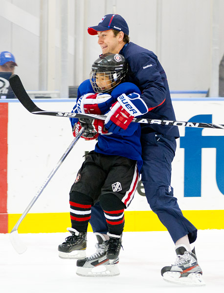 New York Ranger Derek Stepan at Rangers Youth Hockey Camp