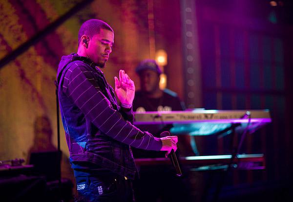 J. Cole on stage