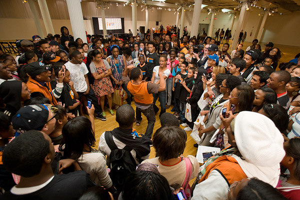 Crowd at Knicks Poetry Slam