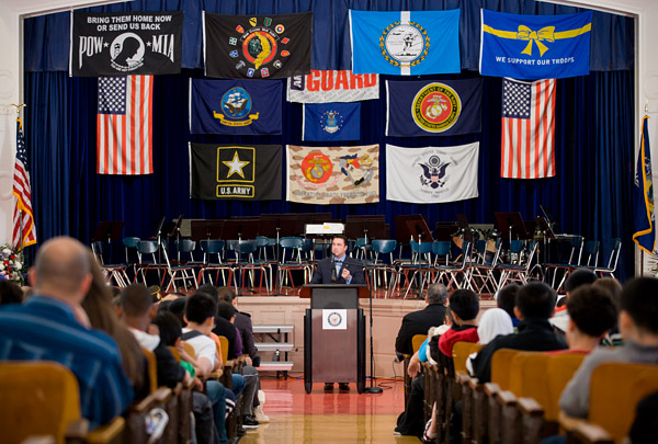 Congressman Grimm addresses students, faculty and veterans