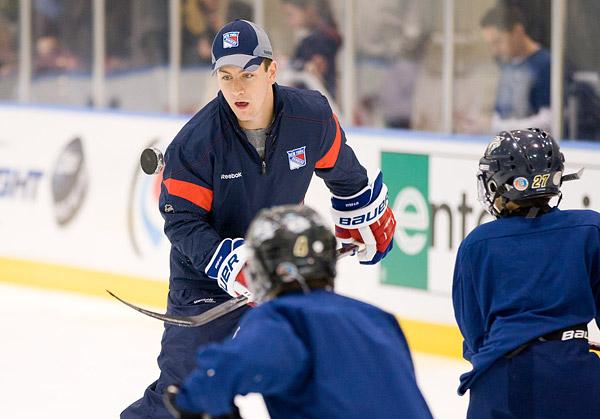 New York Rangers youth hockey clinic