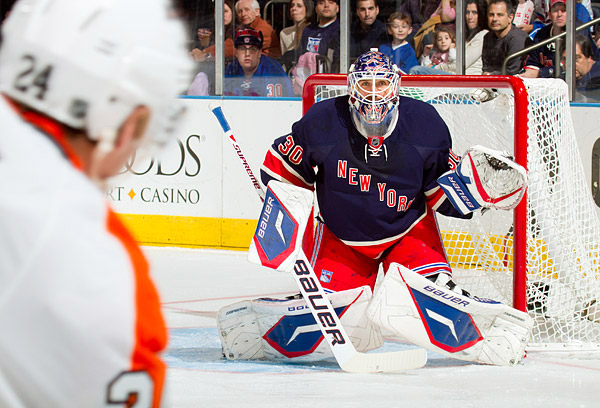 Rangers goalie Henrik Lundqvist faced 29 shots and stopped all of them, good for his 37th career shutout
