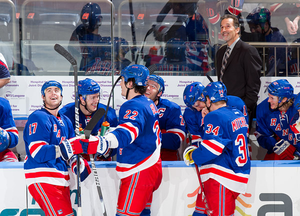 All smiles for the Rangers and head coach John Tortorella