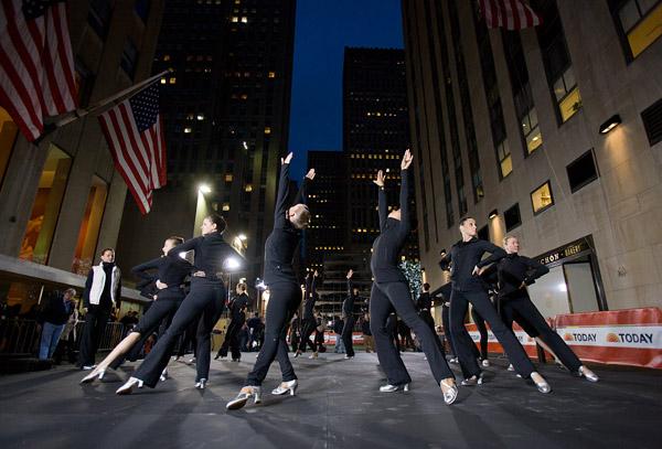 Rockettes rehearsal