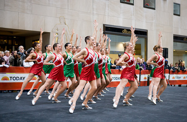 The Rockettes perform in a new costume from this year's Radio City Christmas Spectacular