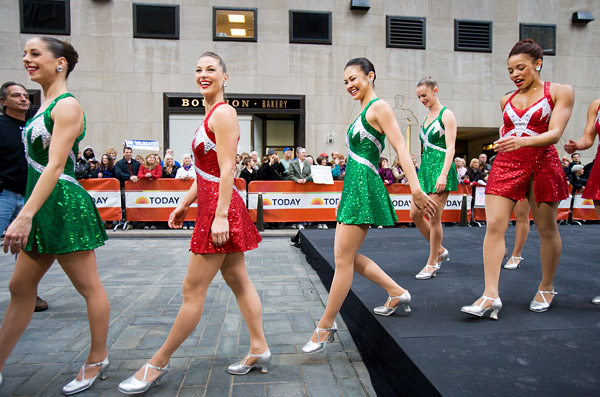 Rockettes after Today Show