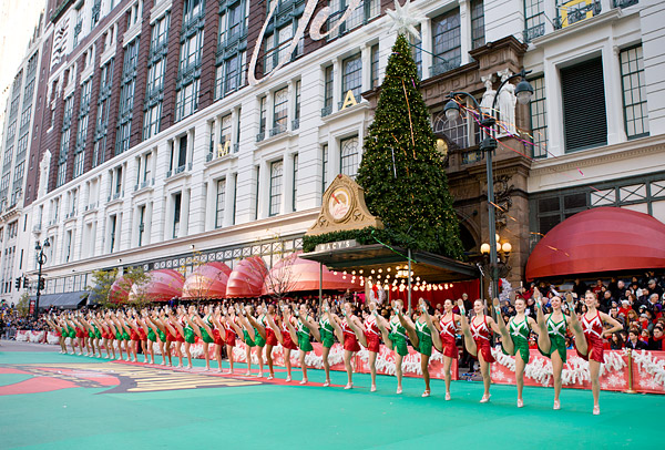 The Rockettes perform in the Macy's Thanksgiving Day Parade