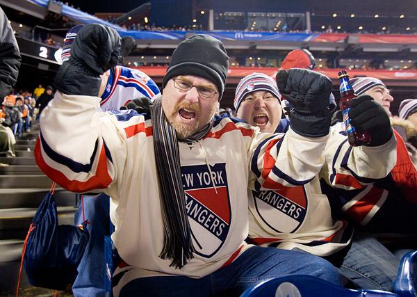 Winter Classic New York Rangers fans