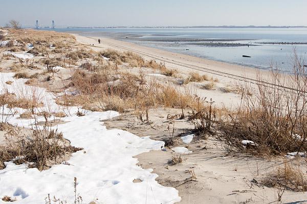 Winter at Plumb Beach