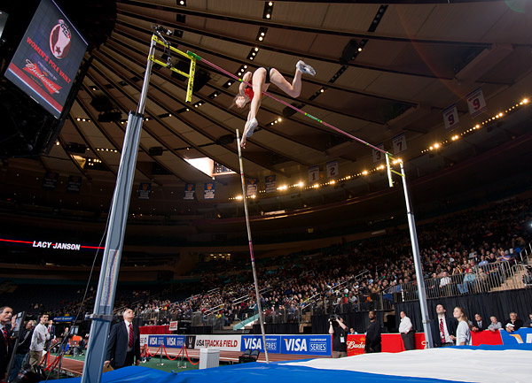 Pole vaulter Janice Keppler at Madison Square Garden