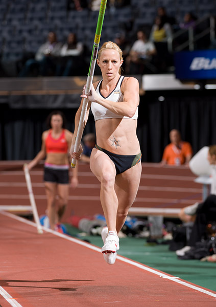 Pole vaulter Becky Holliday at Madison Square Garden