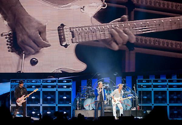 Wolfgang Van Halen, David Lee Roth and Eddie Van Halen