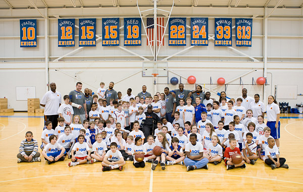 New York Knicks basketball clinic