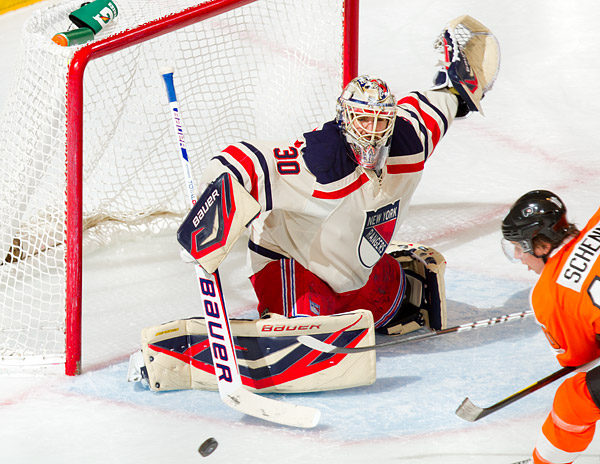 Henrik Lundqvist, stellar as usual for the Rangers, allowed 2 goals or fewer for the 26th time this season