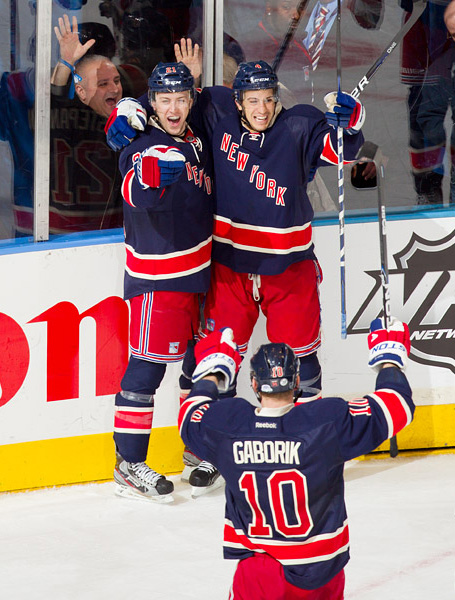 Derek Stepan seals the win with an overtime goal off assists from Michael Del Zotto and Marian Gaborik