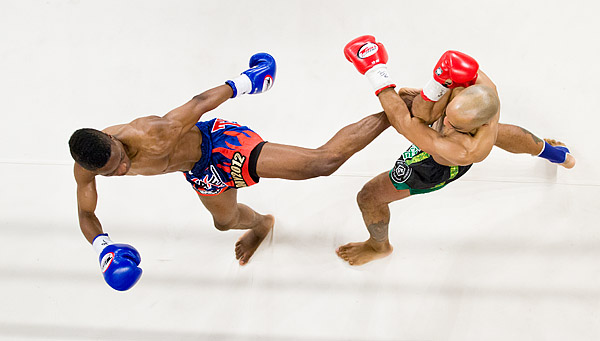 Rudy Felix defeats Cornel Ward in a Muay Thai kickboxing bout at Madison Square Garden