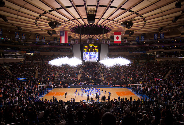 The Knicks City Dancers celebrate their 20th Anniversary with a special halftime performance at Madison Square Garden