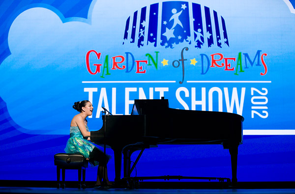 Brittneyann performs in the Garden of Dreams Talent Show at Radio City Music Hall