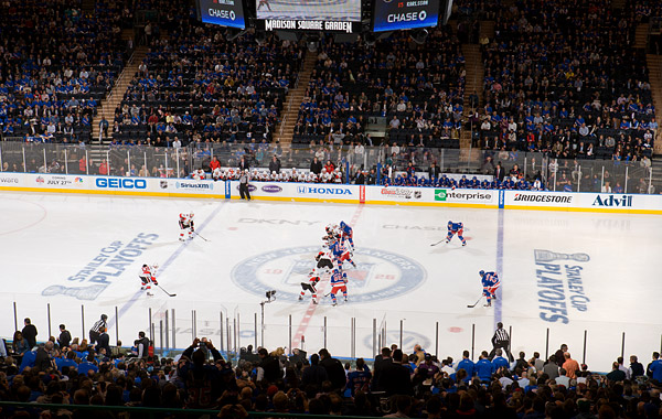 Rangers opening faceoff