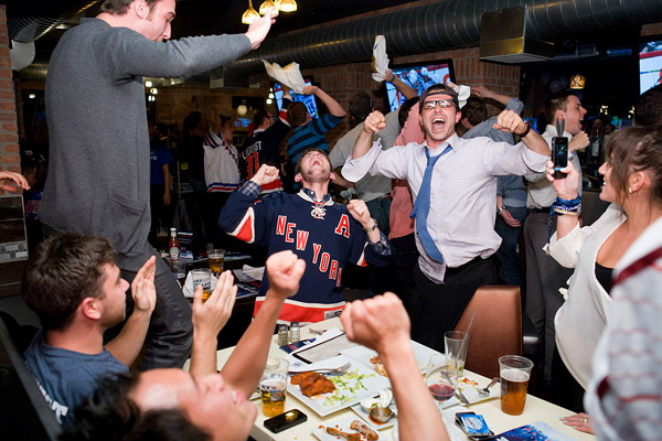 Rangers playoffs celebration