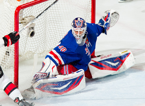 Rangers goalie Henrik Lundqvist, who put up phenomenal numbers in the series vs. the Senators