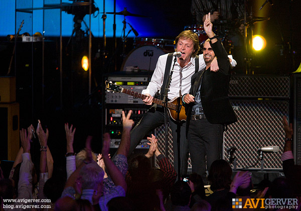 Paul McCartney and Ringo Starr perform together at Radio City Music Hall in 2009