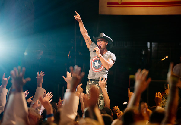 Country music star Tim McGraw performs for members of the U.S. Armed Forces at the Beacon Theatre on Memorial Day