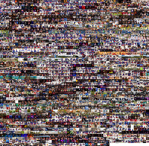 Montage of all 2,339 blog images, sequenced chronologically.