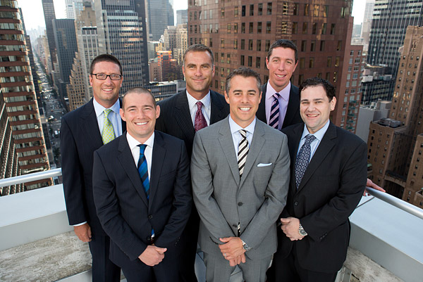 Corporate portrait on a New York City rooftop