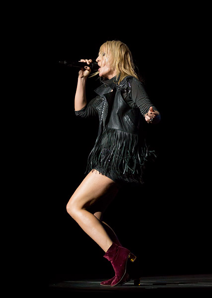 Metric's Emily Haines performs at Radio City Music Hall