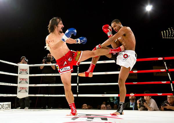 November 10, 2012, Manny Casais defeats Jeff Hobbs in a Muay Thai kickboxing bout at Madison Square Garden.