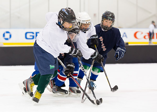 New York Rangers youth hockey clinic at the Madison Square Garden Training Center