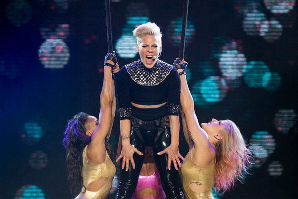 Pink performs a sold-out show at Madison Square Garden.