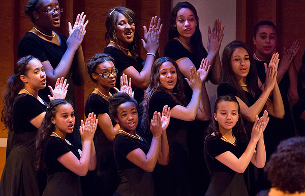 Highbridge Voices Chamber Choir members sing at the group's annual benefit concert.