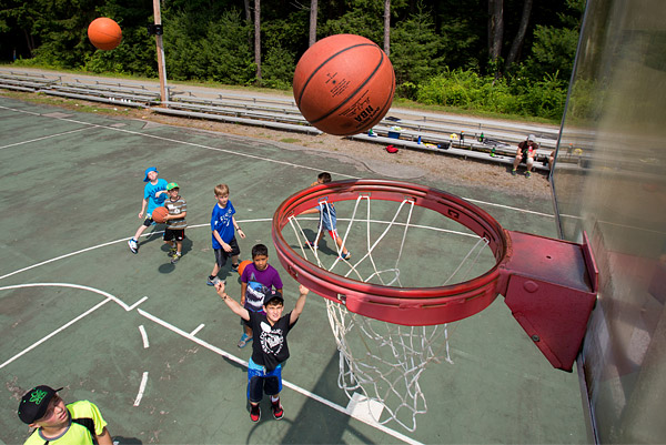 Basketball at Camp Young Judaea Sprout Lake in upstate New York