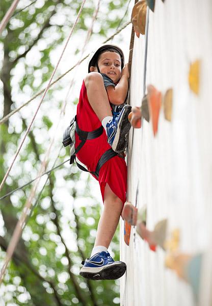 Camp rock climbing