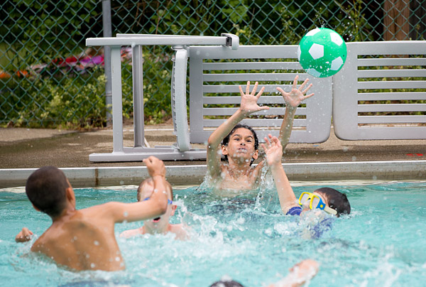 Summer camp water polo