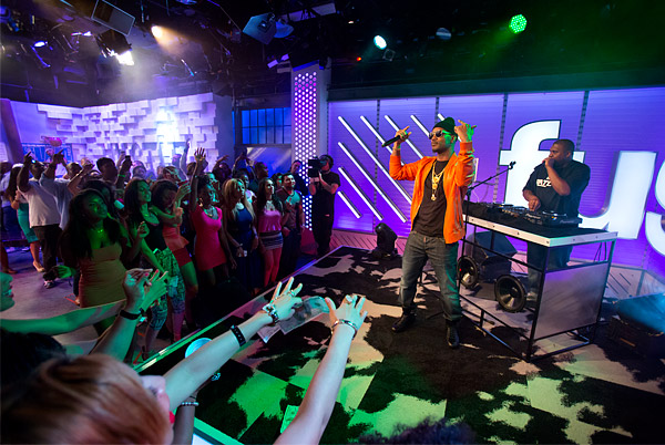 Rapper Juicy J performs on Fuse TV's The Hustle After Party