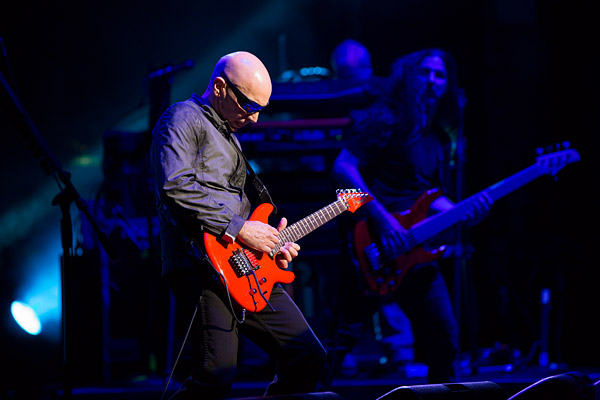 Instrumental rock guitarist Joe Satriani performs at the Beacon Theatre