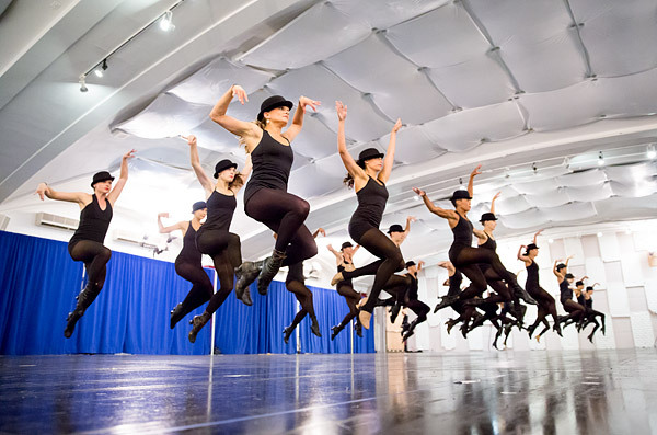 The Radio City Rockettes rehearse for their new spring show, Heart and Lights, debuting March 2014.