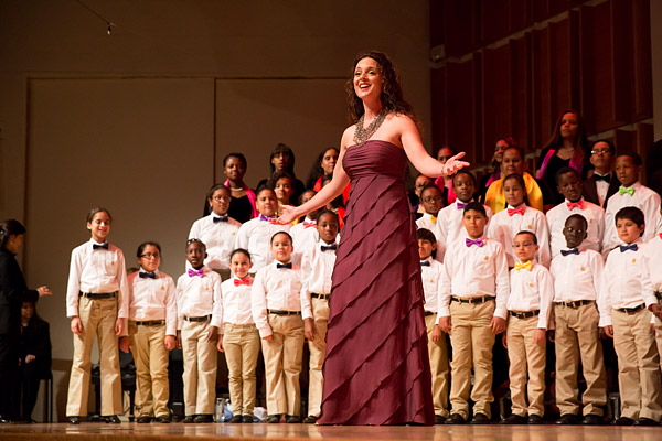 Melissa Errico performs with Highbridge Voices