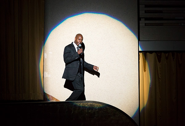Comedian Dave Chappelle performs in one of ten consecutive shows at Radio City Music Hall.