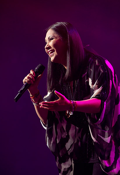 Mexican singer Ana Gabriel performs in The Theater at Madison Square Garden.