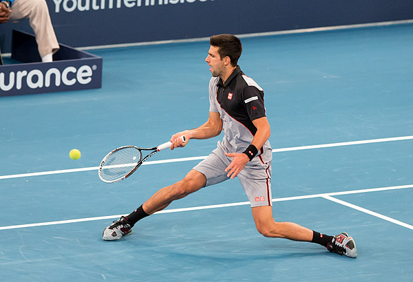 Novak Djokovic defeats Andy Murray in the BNP Paribas Showdown tennis tournament at Madison Square Garden