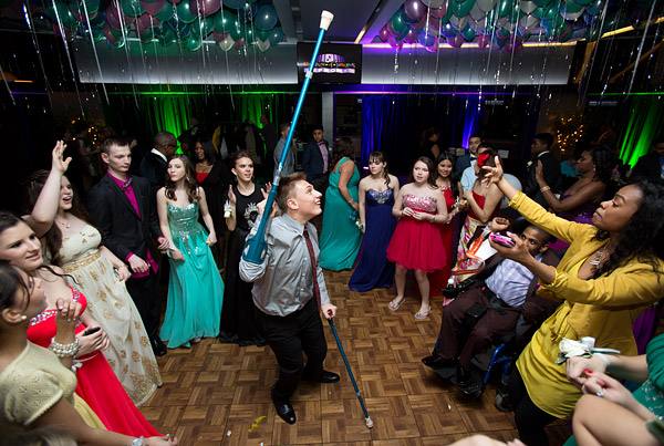 A teen tears it up on the dance floor at the inaugural Garden of Dreams Foundation Prom at Madison Square Garden